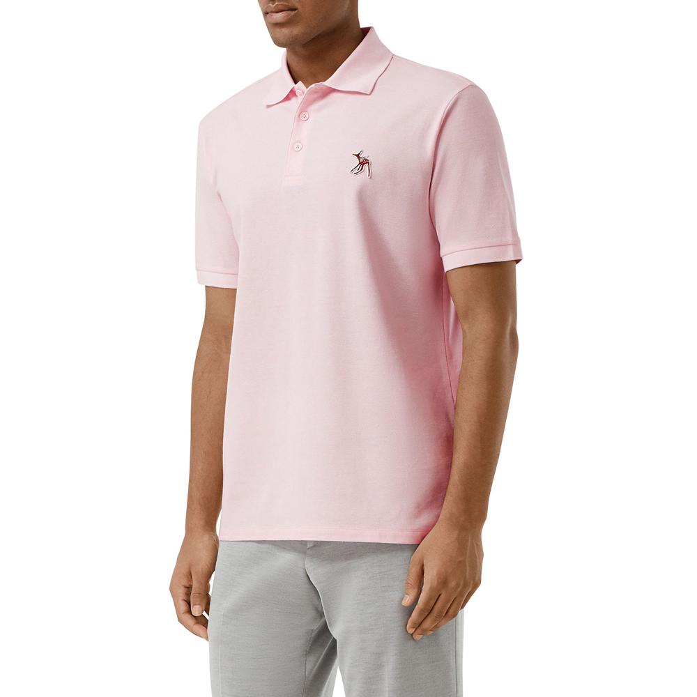 Polo Shirt w/ Fawn Applique Burberry