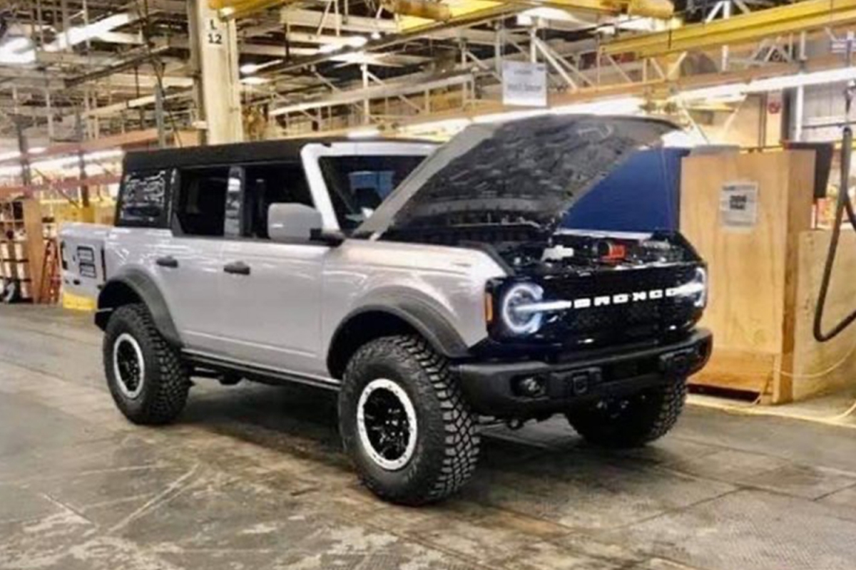 Leaked photo of a new white SUV