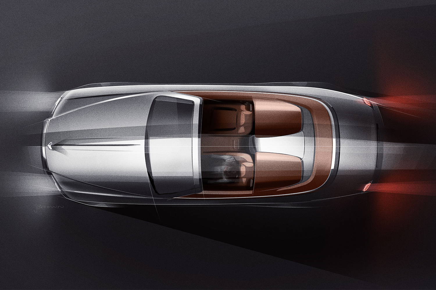 Top view of a Rolls-Royce convertible