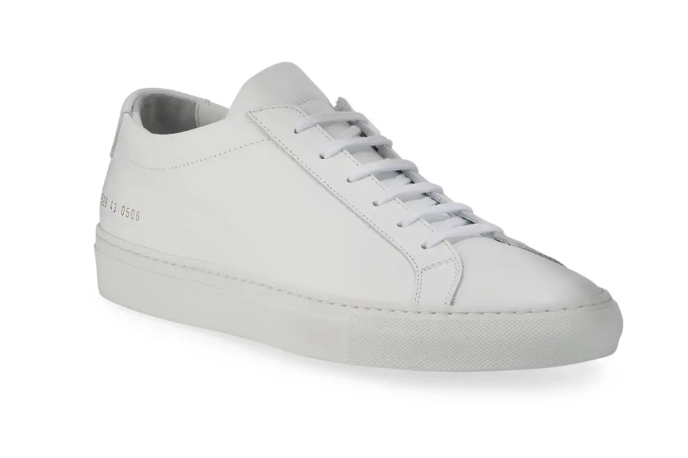 Achilles Leather Low-Top Sneakers, White Common Projects