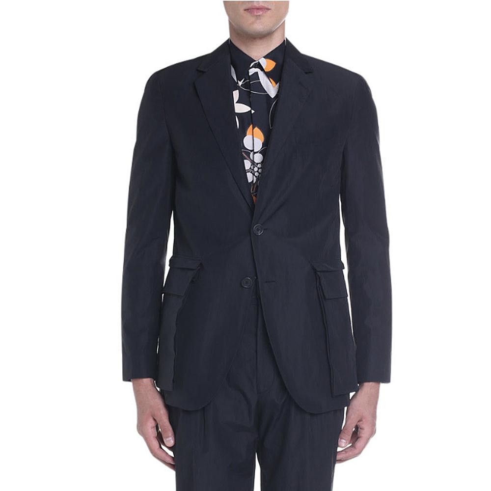 Cotton Two-Button Jacket w/ Detachable Pockets Fendi