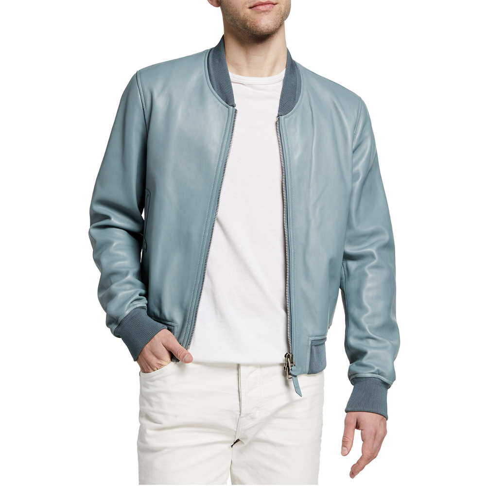 Lamb Leather Bomber Jacket Tom Ford