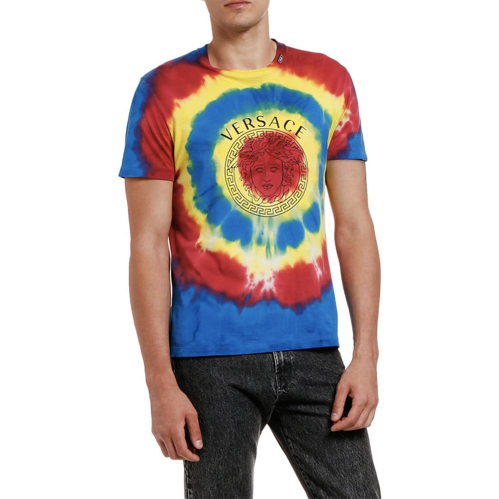 Tie-Dye Medusa Logo T-Shirt Versace