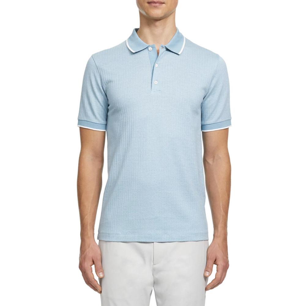 Geo Zelig Jacquard Polo Shirt Theory