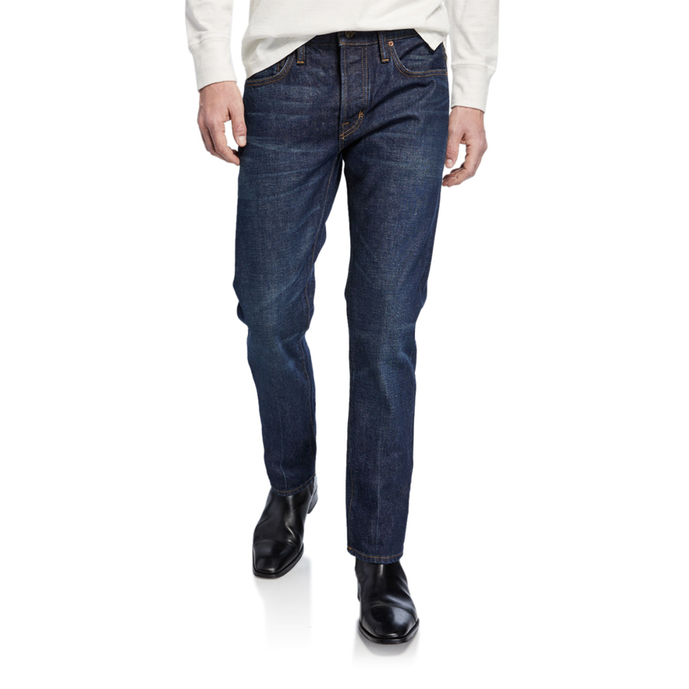 Straight-Fit Dark-Wash Jeans Tom Ford