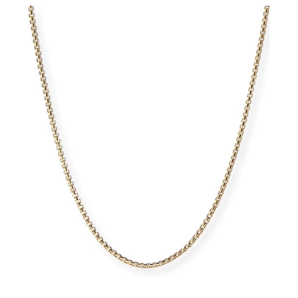 18k Gold Box Chain Necklace David Yurman