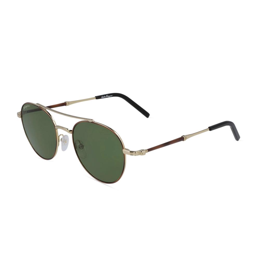 Round Metal Double-Bridge Sunglasses Salvatore Ferragamo