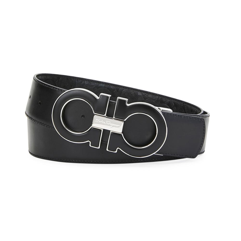 Gancini Reversible Leather Belt Salvatore Ferragamo