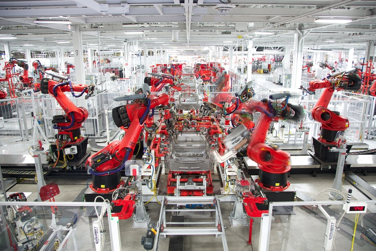 Electric vehicle manufacturing plant in California