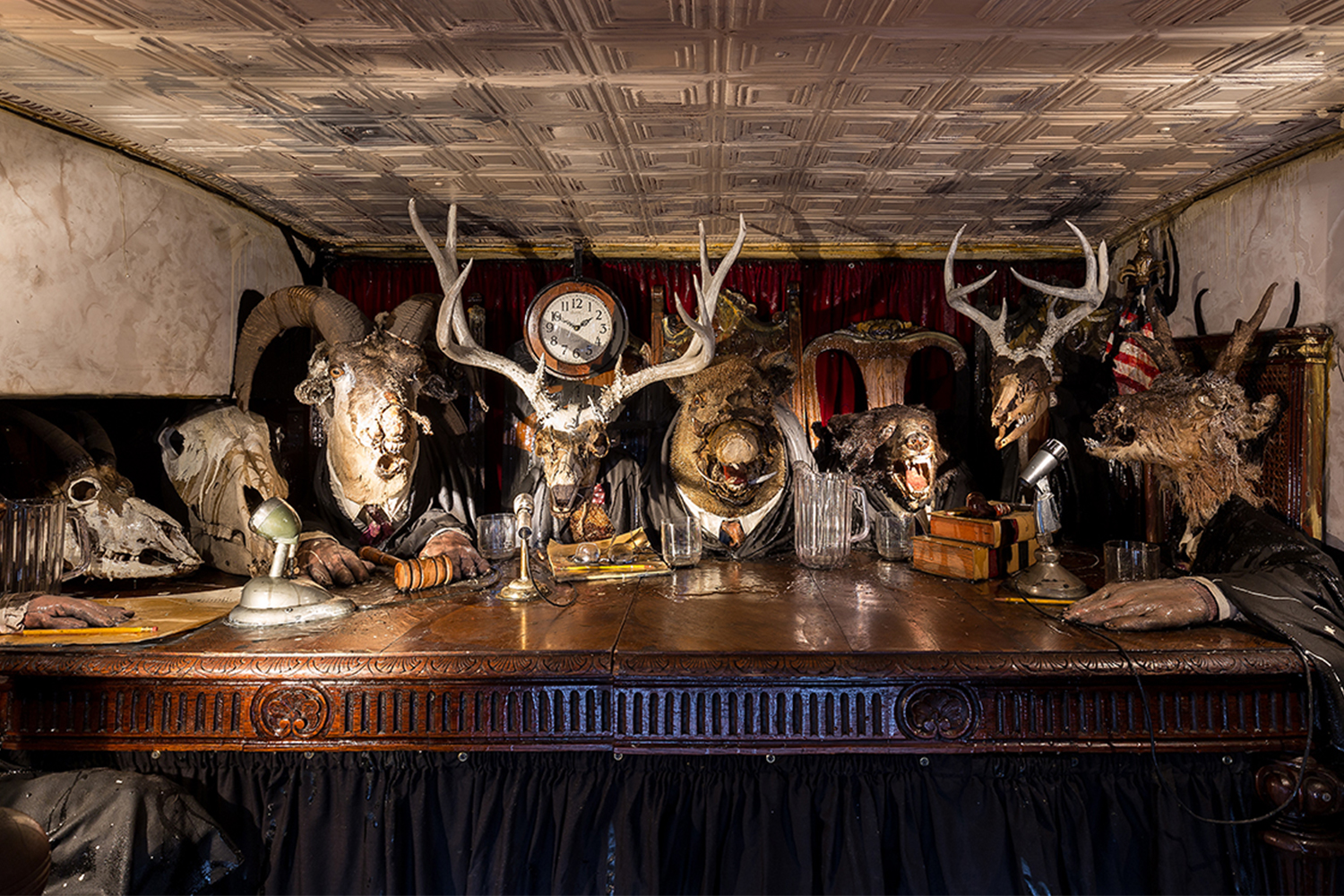 The Caddy Court by Kienholz