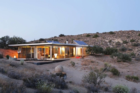 Off-grid house in Pioneertown, California.