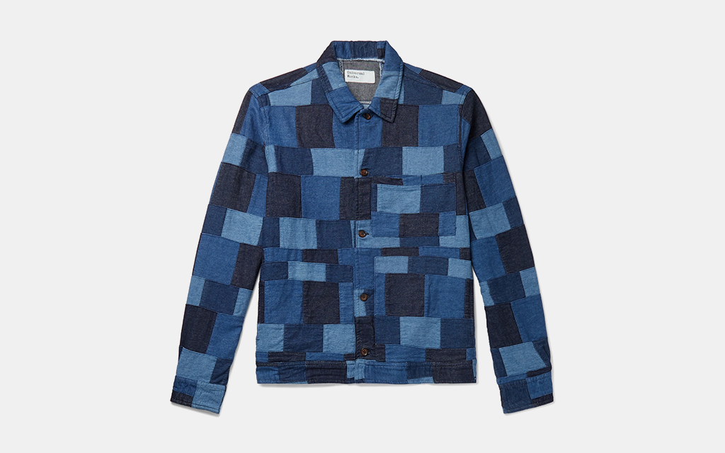 Naked /& Famous Denim Mens Slim Quilted Cardigan Sweater