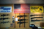 Firearms for sale at a gun store