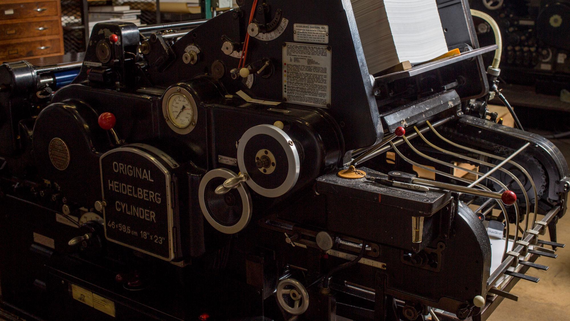 rohner letterpress heidelberg