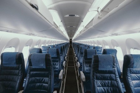 An empty airplane