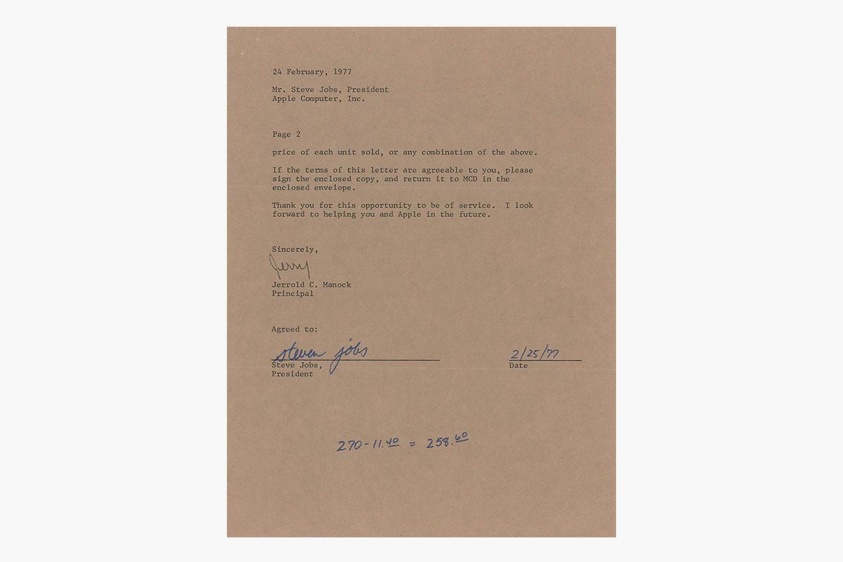 Steve Jobs letter
