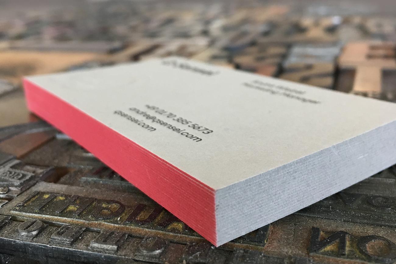 letterpress business cardss