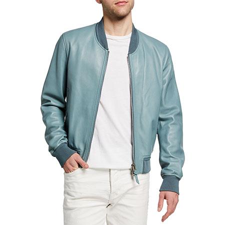 Men's Lamb Leather Bomber Jacket Tom Ford