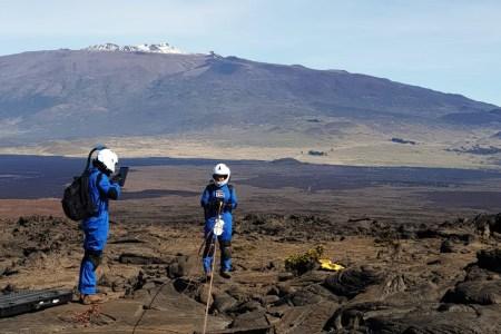 mauna loa lava fields hawaii mars
