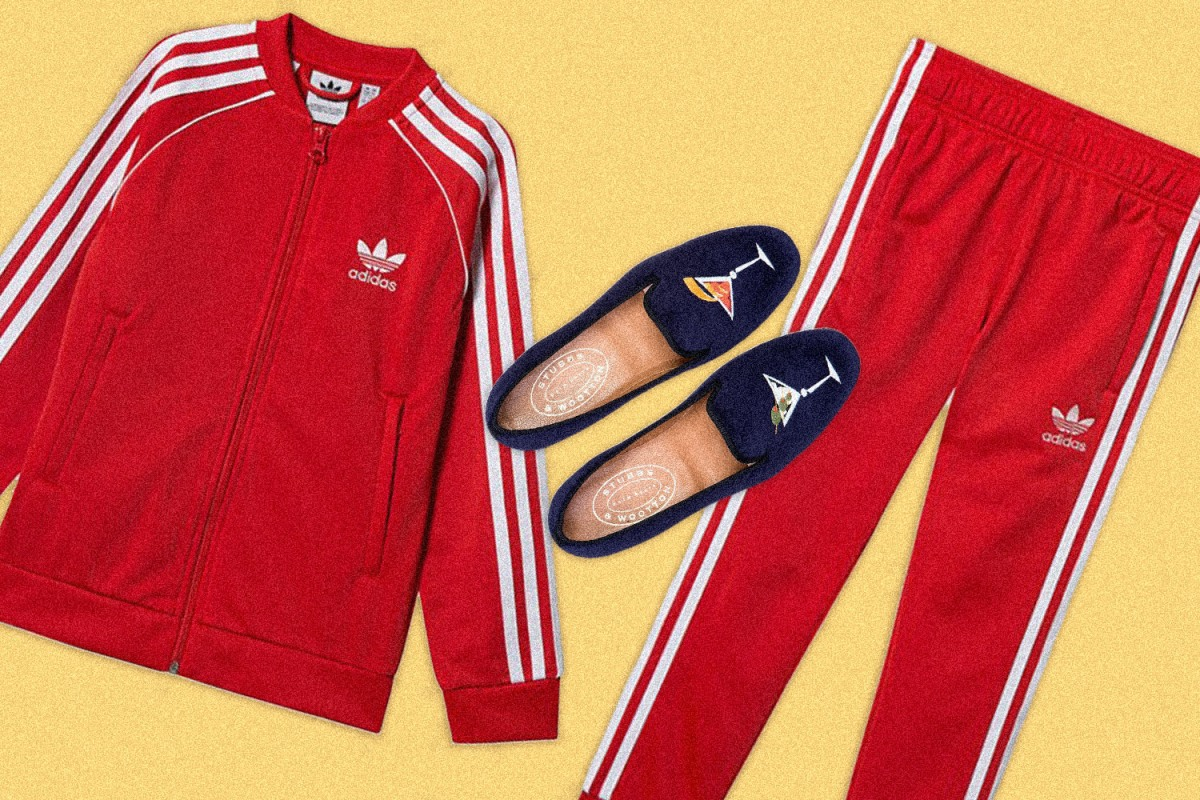 Adidas track suit work from home