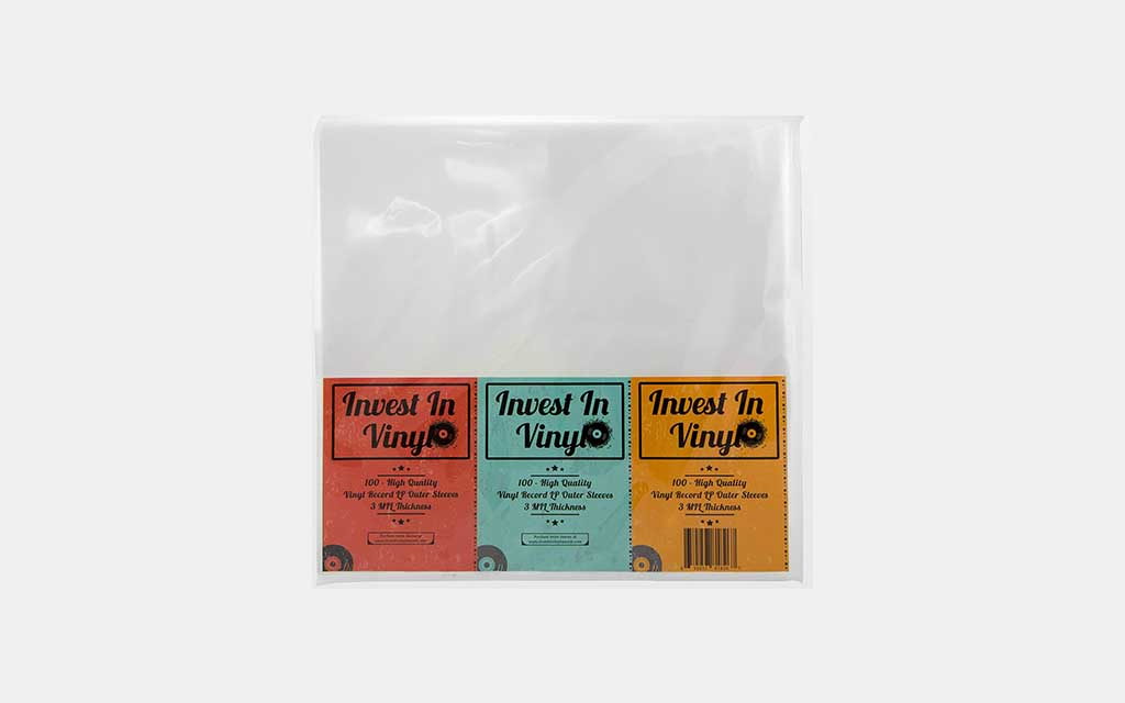 Invest In Vinyl Clear Plastic LP Outer Sleeves