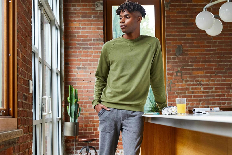 Brooklinen men's loungewear sweatshirt and joggers