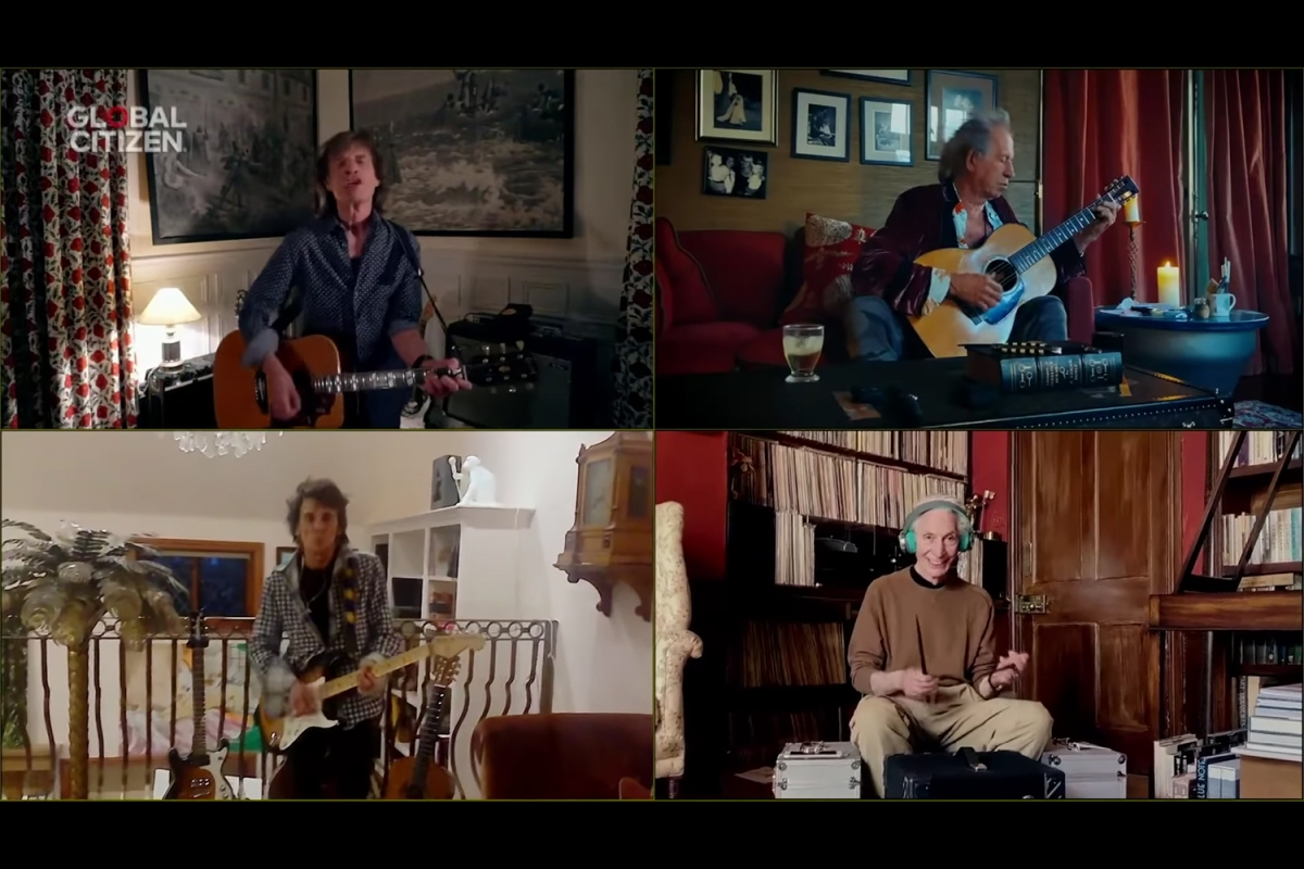 "The Rolling Stones playing ""You Can't Always Get What You Want"""