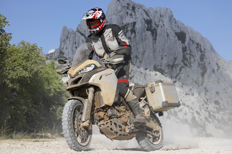 Ducati motorcycle off-roading
