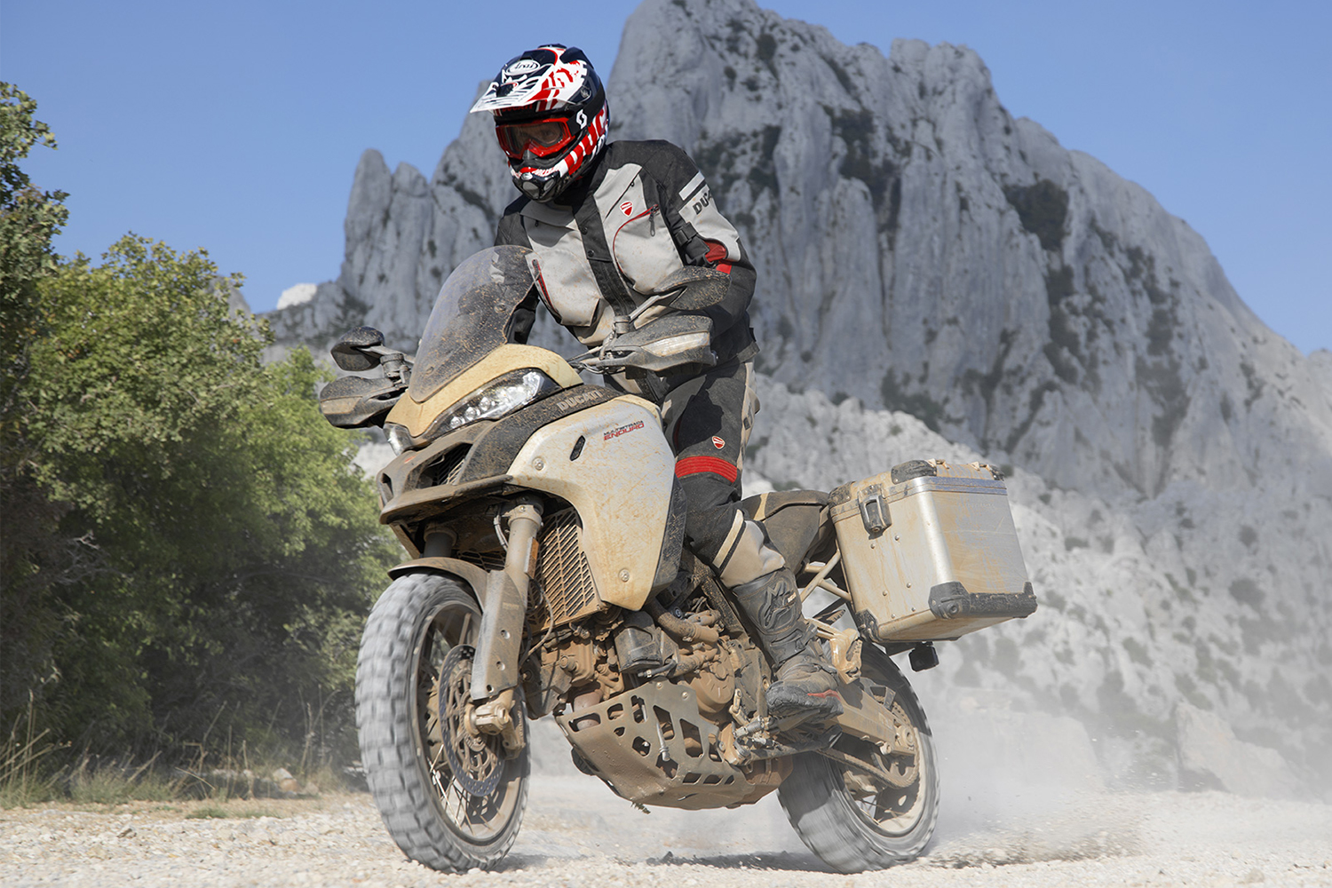 Ducati motorcycle off-roading