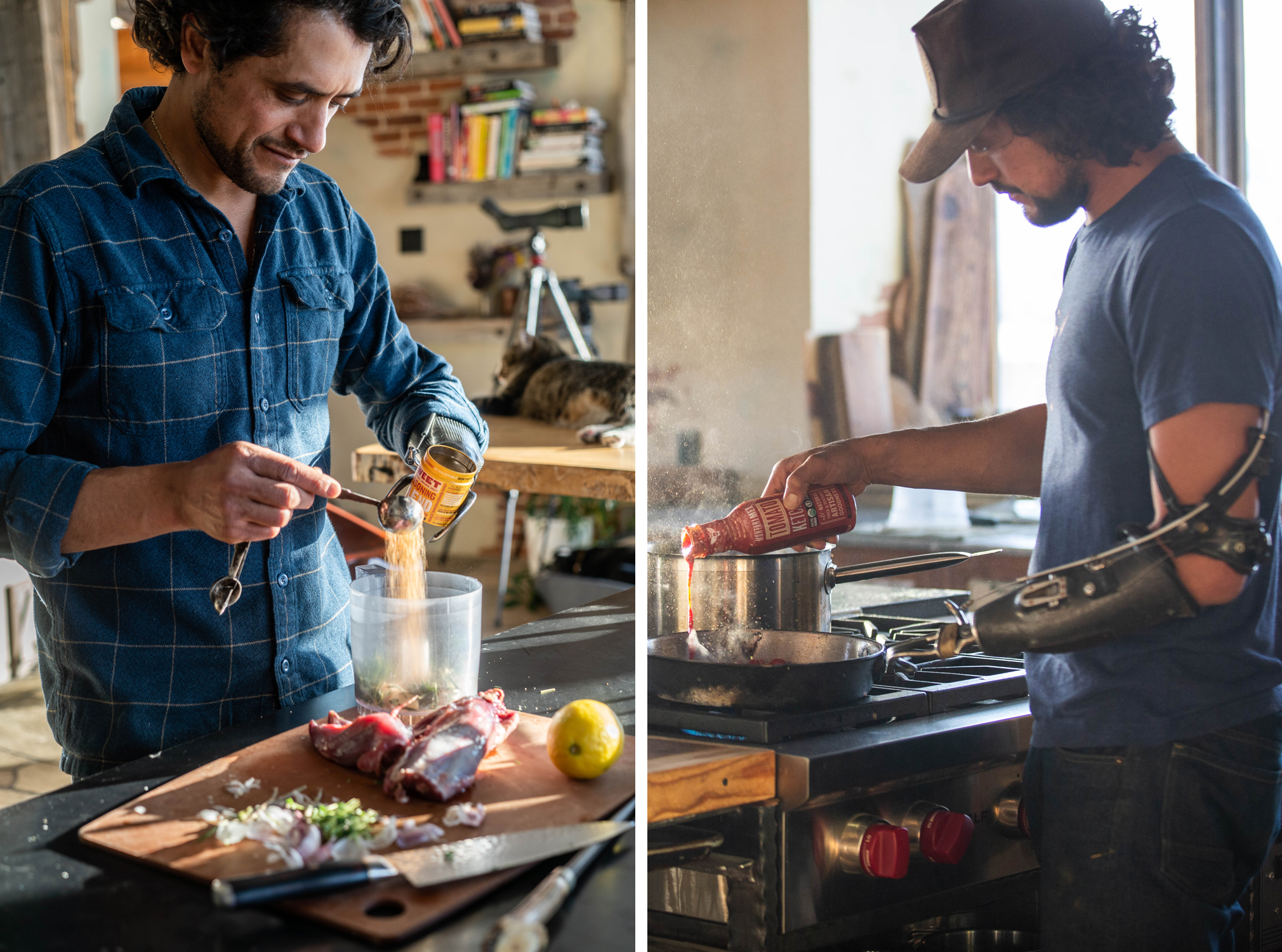 Eduardo Garcia cooking with Montana Mex