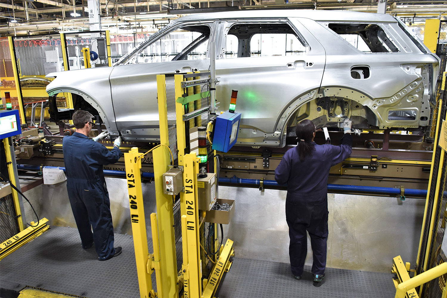 Two automakers at Ford's Chicago Assembly Plant