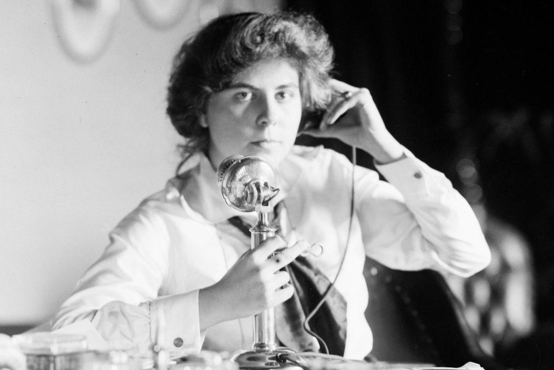 Genevieve Clark on telephone