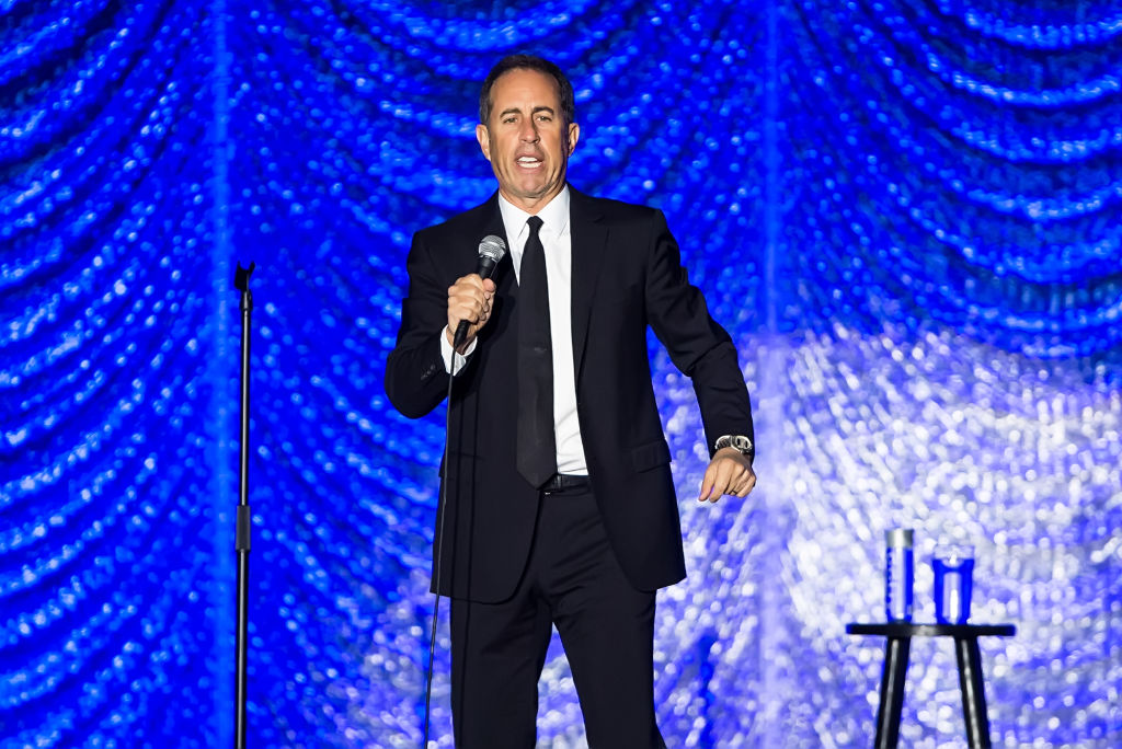 Jerry Seinfeld performs during Philly Fights Cancer: Round 4 at The Philadelphia Navy Yard on November 10, 2018 in Philadelphia, Pennsylvania.  (Photo by Gilbert Carrasquillo/Getty Images)