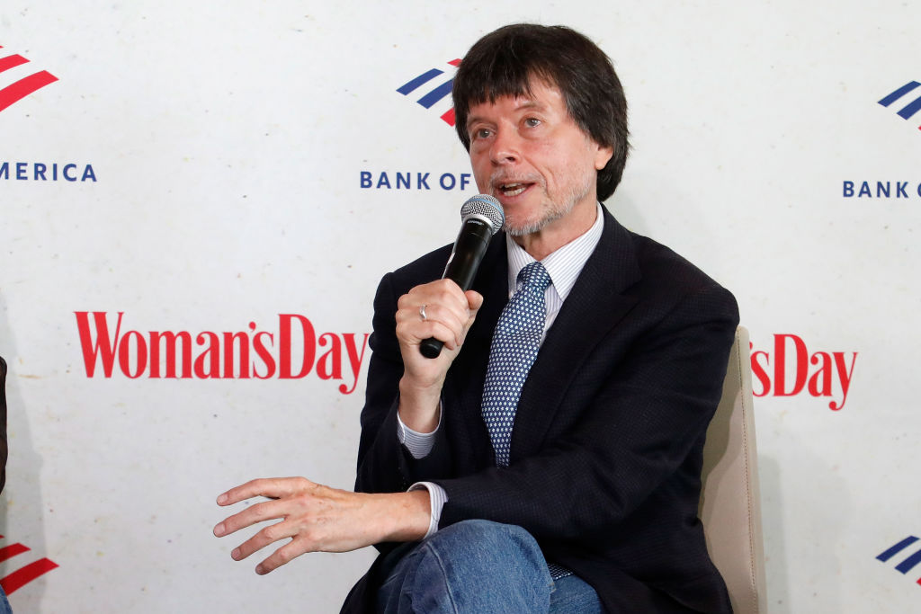 "Ken Burns speaks during a panel discussion of ""Country Music."" (Photo by Taylor Hill/Getty Images)"