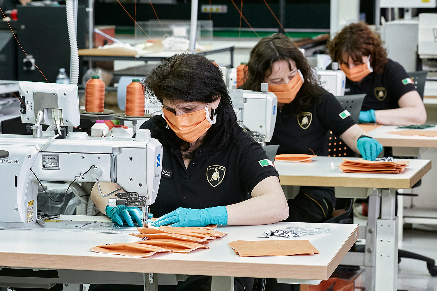 Lamborghini is making face masks and shields for medical workers