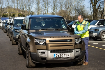 Land Rover Defenders given to the Red Cross