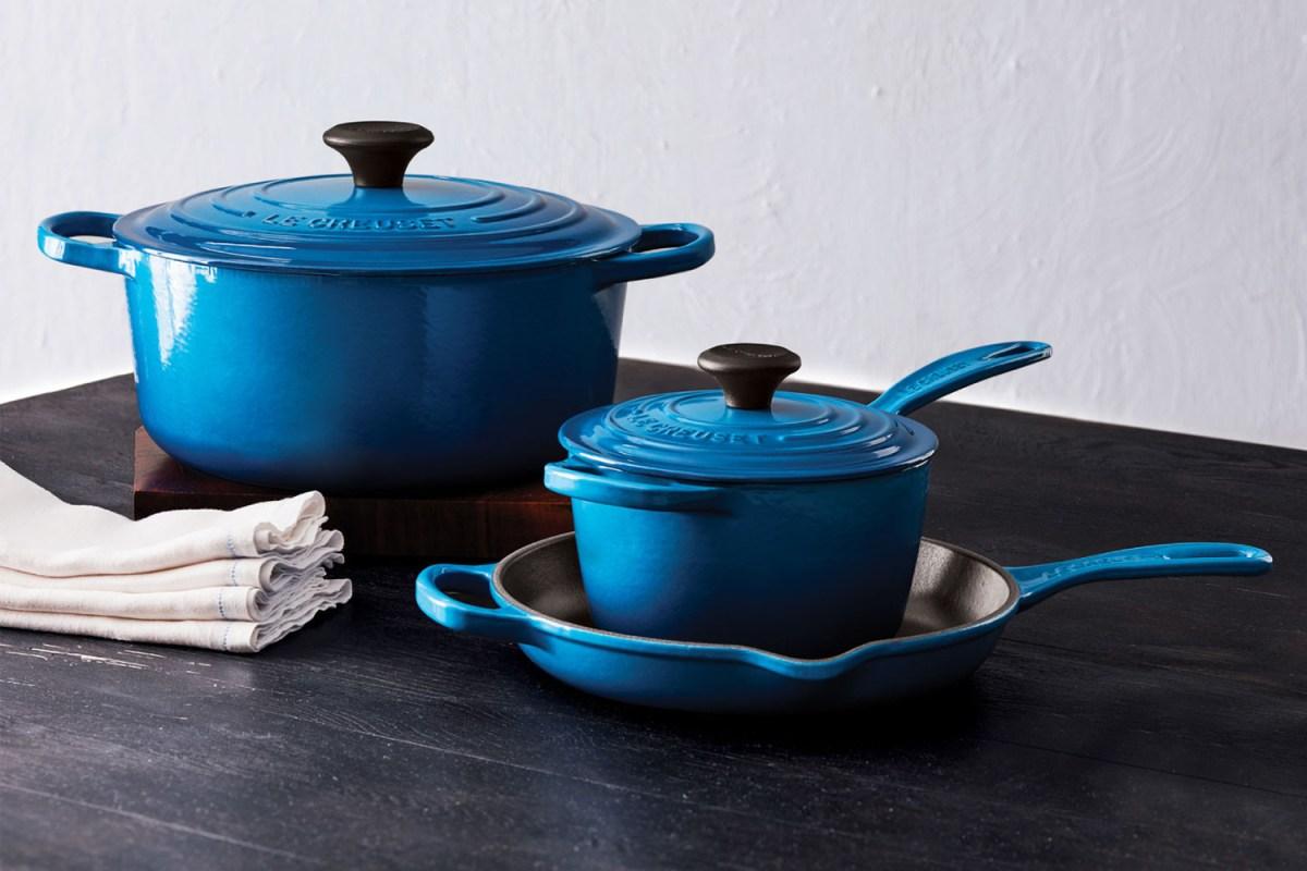 Le Creuset 5-piece cast-iron cookware set