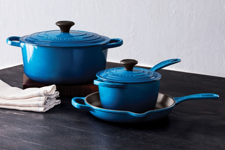 Le Creuset 5-piece cast-iron cookware set