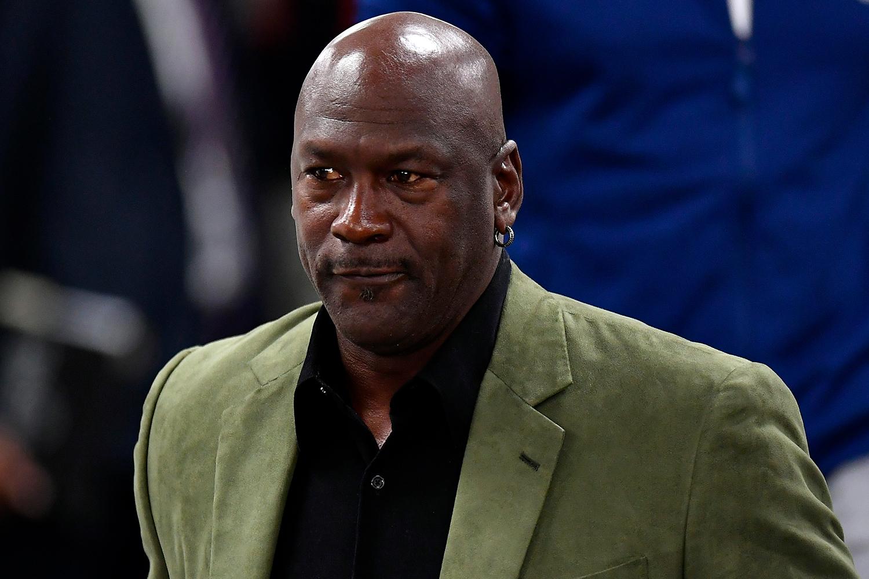 Michael Jordan at the Charlotte Hornets v Milwaukee Bucks - NBA Paris Game