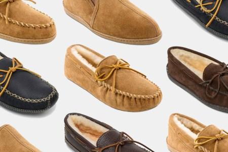 Minnetonka Moccasin sheepskin slippers