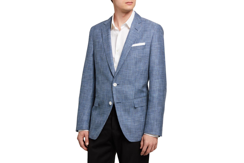 Micro-Pattern Two-Button Jacket BOSS