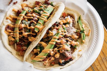 Tacos at Davila's BBQ in Seguin, Texas. (Robert Strickland)