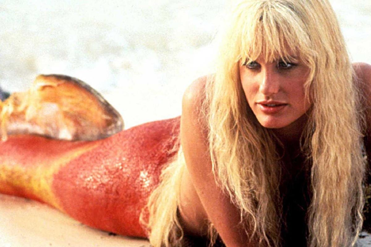 "Daryl Hannah as a mermaid in ""Splash"""