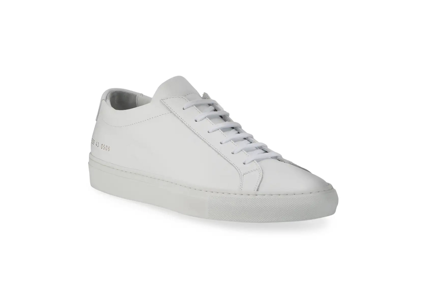 Achilles Leather Low-Top Sneakers in White Common Projects