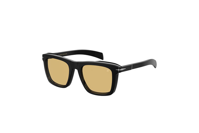 Square Solid Acetate Sunglasses David Beckham