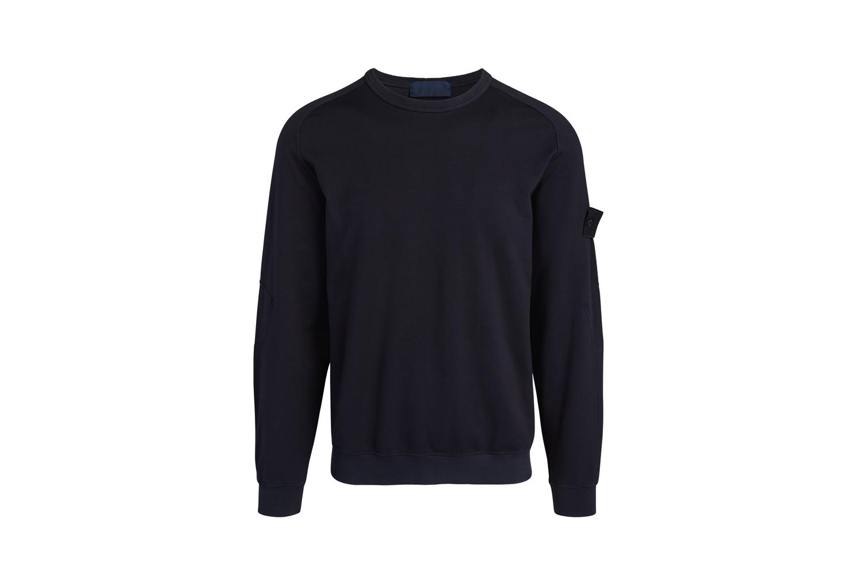Crewneck Sweatshirt w/ Tonal Logo Stone Island