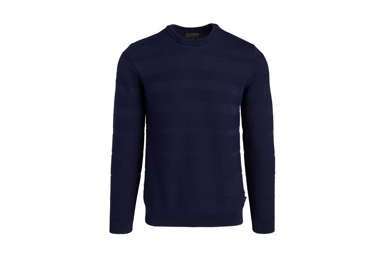 Horizontal Weave Crewneck Sweater Emporio Armani