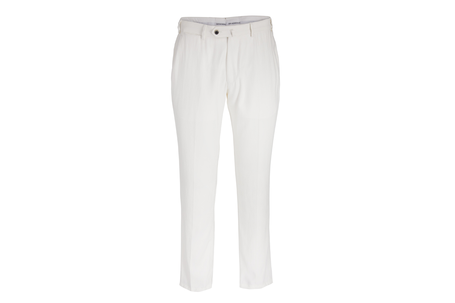 Flat-Front Solid-Weave Trousers Emporio Armani