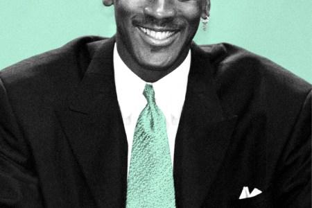 Michael Jordan style bad suit