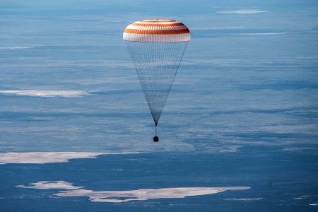 Astronauts returning to Earth